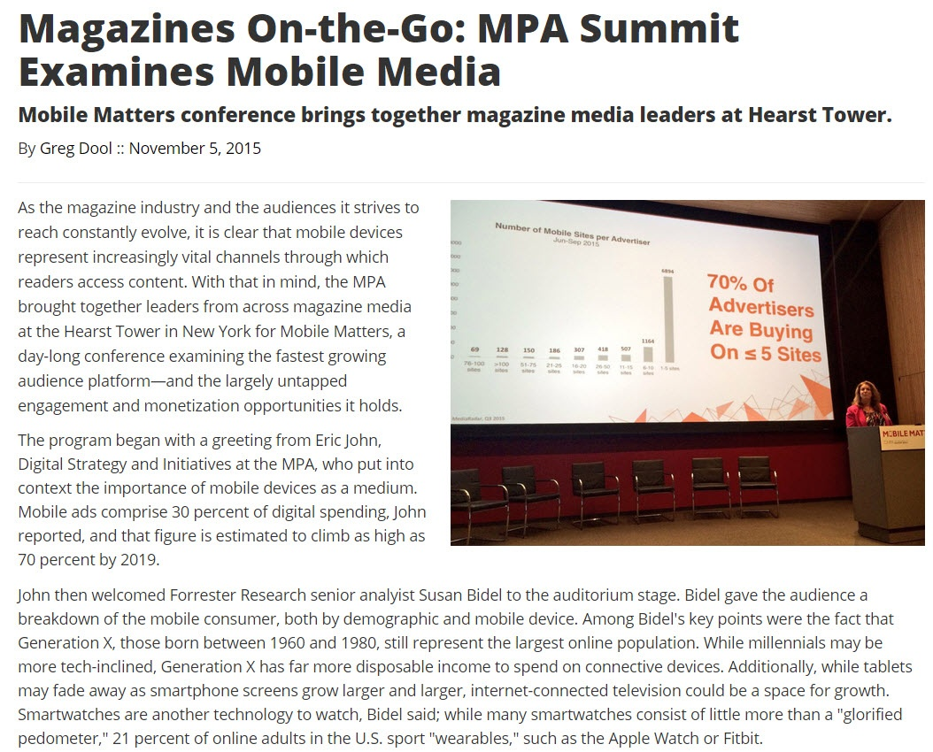 Magazines On-the-Go MPA Summit Examines Mobile Media - 1.jpg